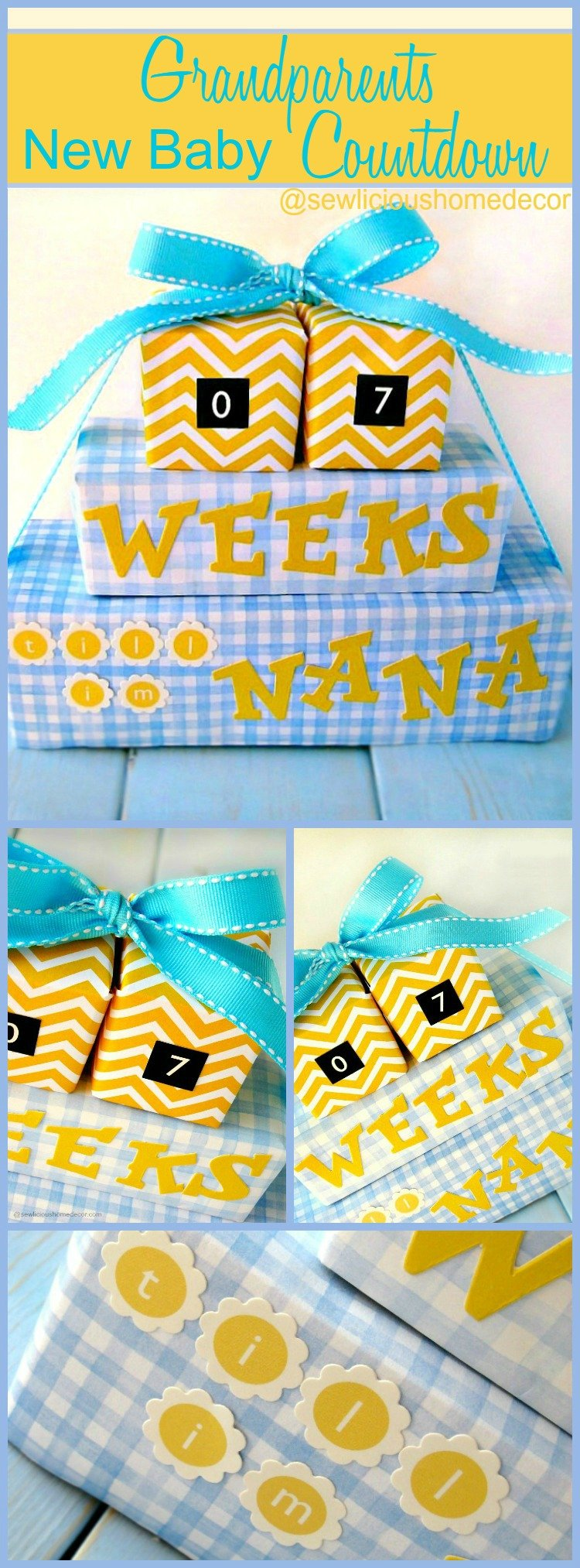 Grandparents New Baby Countdown sewlicioushomedecor.com