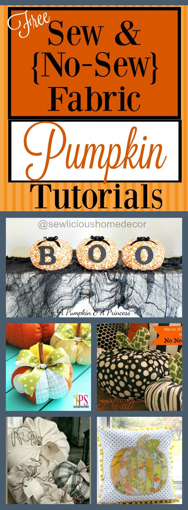 Free Sew and No Sew Pumpkin Tutorials