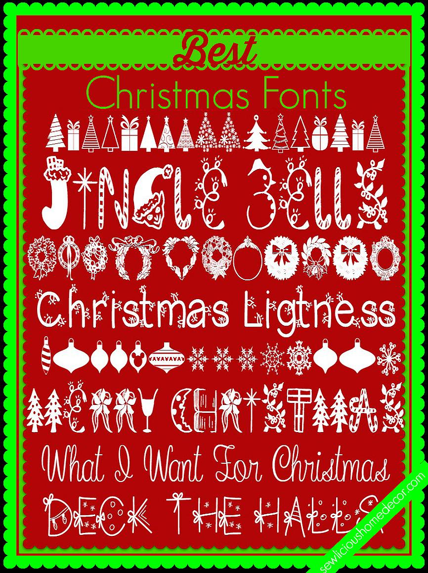 Best Christmas Fonts at sewlicioushomedecor.com