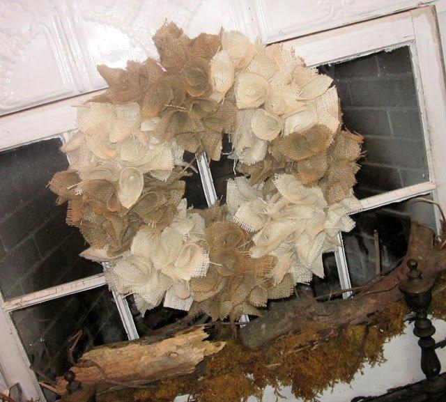 Two Tone Burlap Wreath