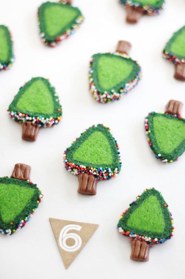 Slice and Bake Christmas Tree Cookies