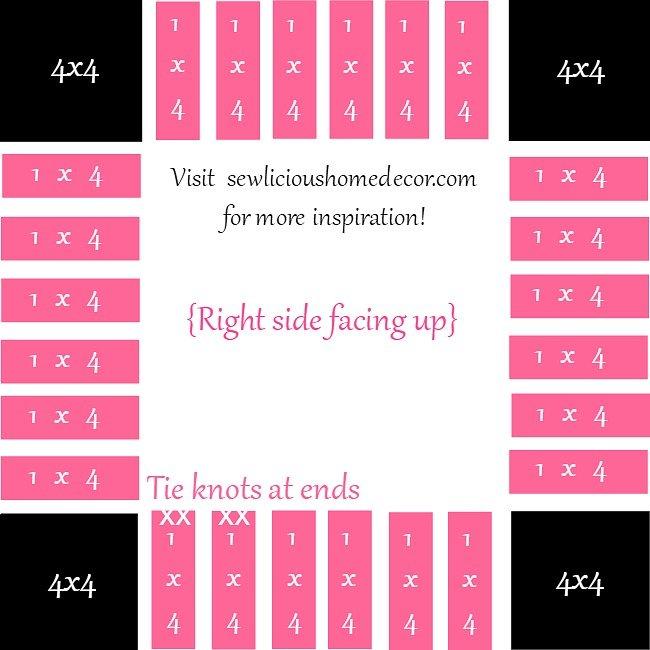No Sew Blanket Template Guide Instructions Tutorial sewlicioushomedecor.com