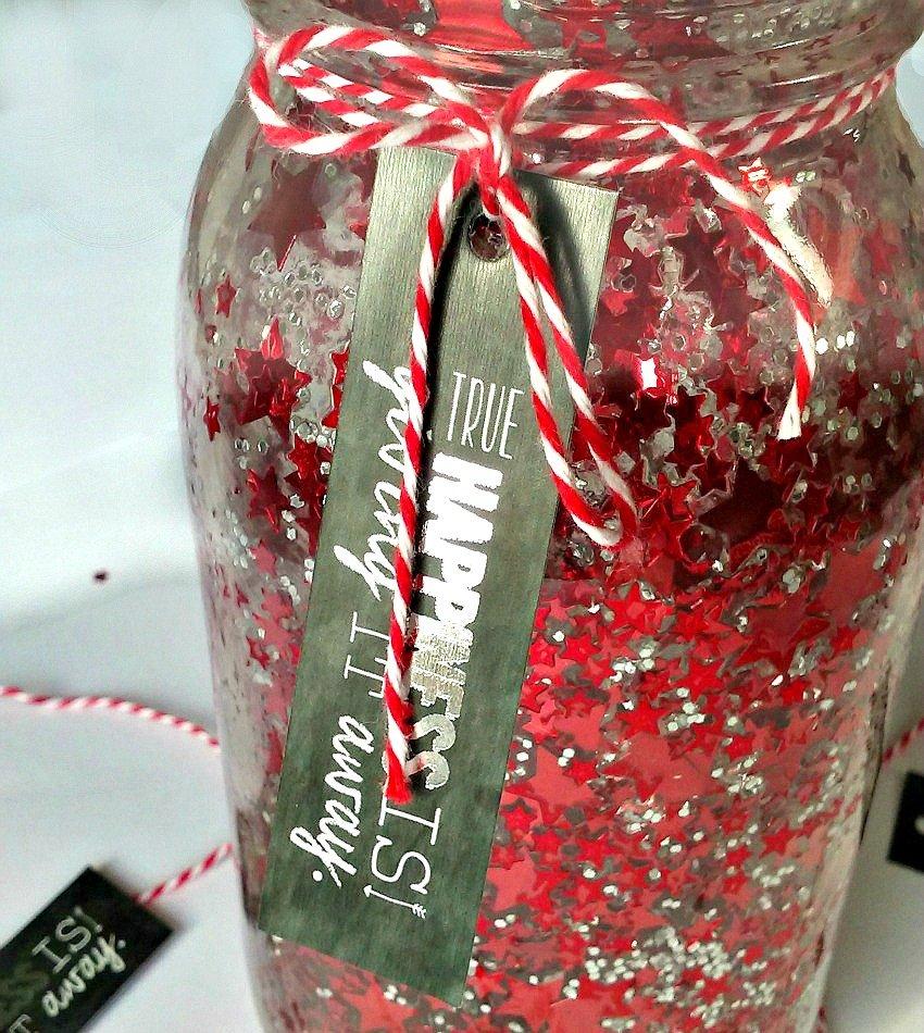 Red and Black DIY Confetti Mason Jar Crafts by sewlicioushomedecor.com