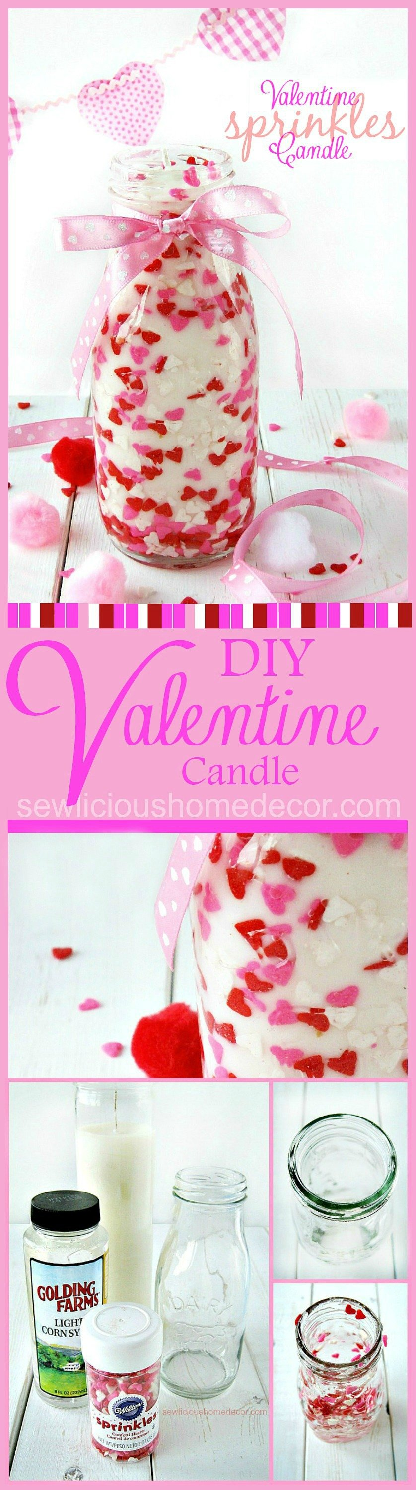 Valentine Sprinkles Candle Tutorial Pinterest