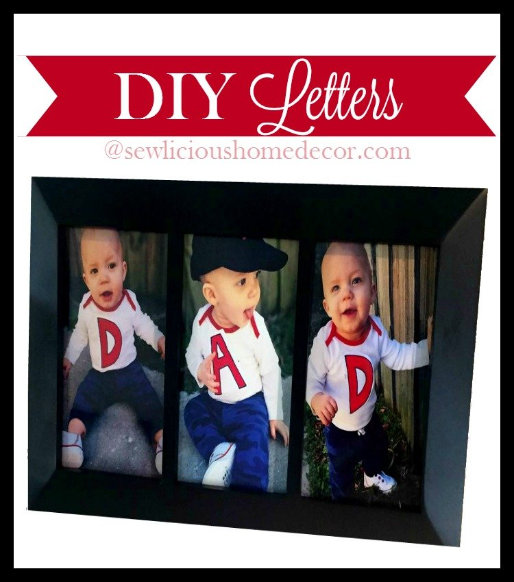 DIY Shirt Letters Baby Gifts Ideas at sewlicioushomedecor.com