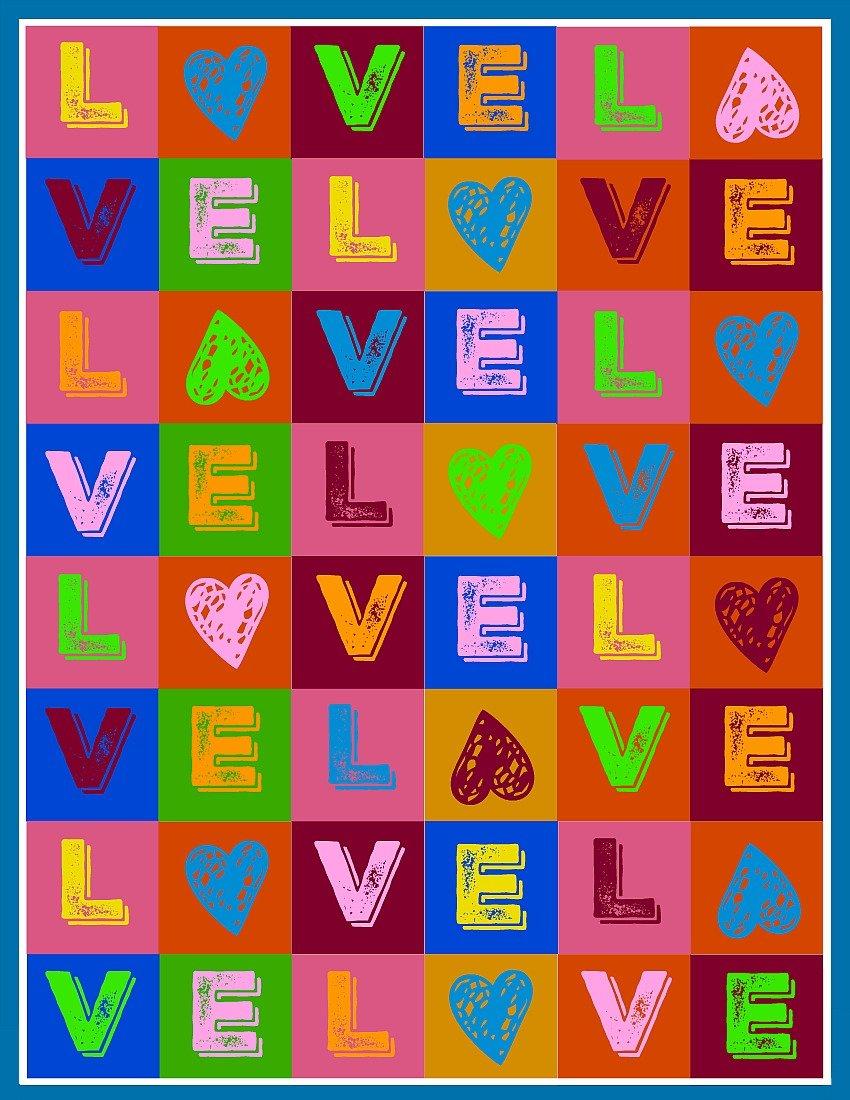 Valentine LOVE Blocks at sewlicioushomedecor.com