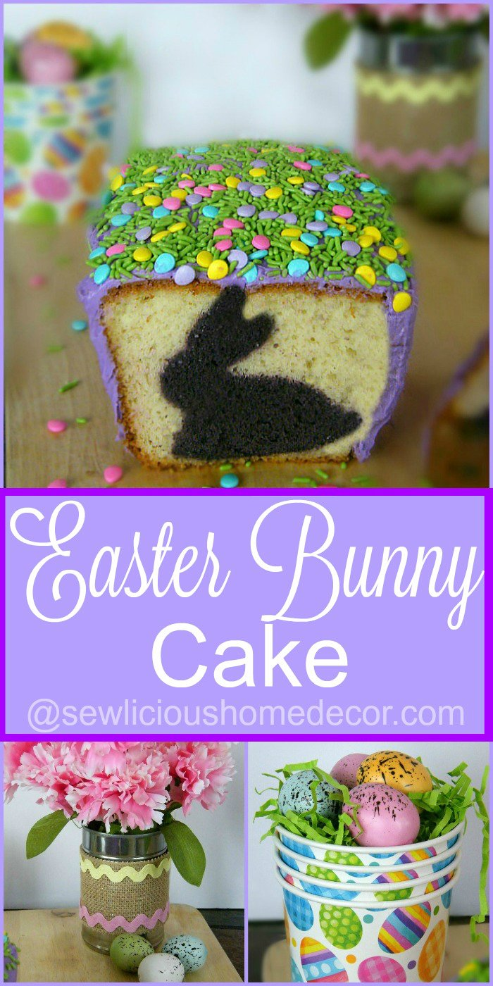 How to make an Easter bunny cookie cutter cake.