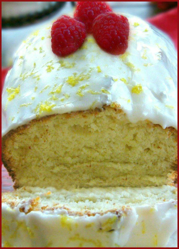 Raspberry and Yogurt Lemon Pound Cake sewlicioushomedecor.com