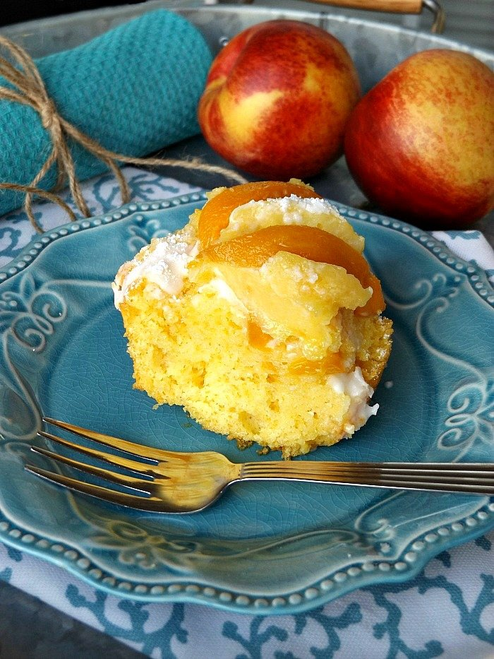 Fresh Buttermilk Peach Pound Cake sewlicioushomedecor.com