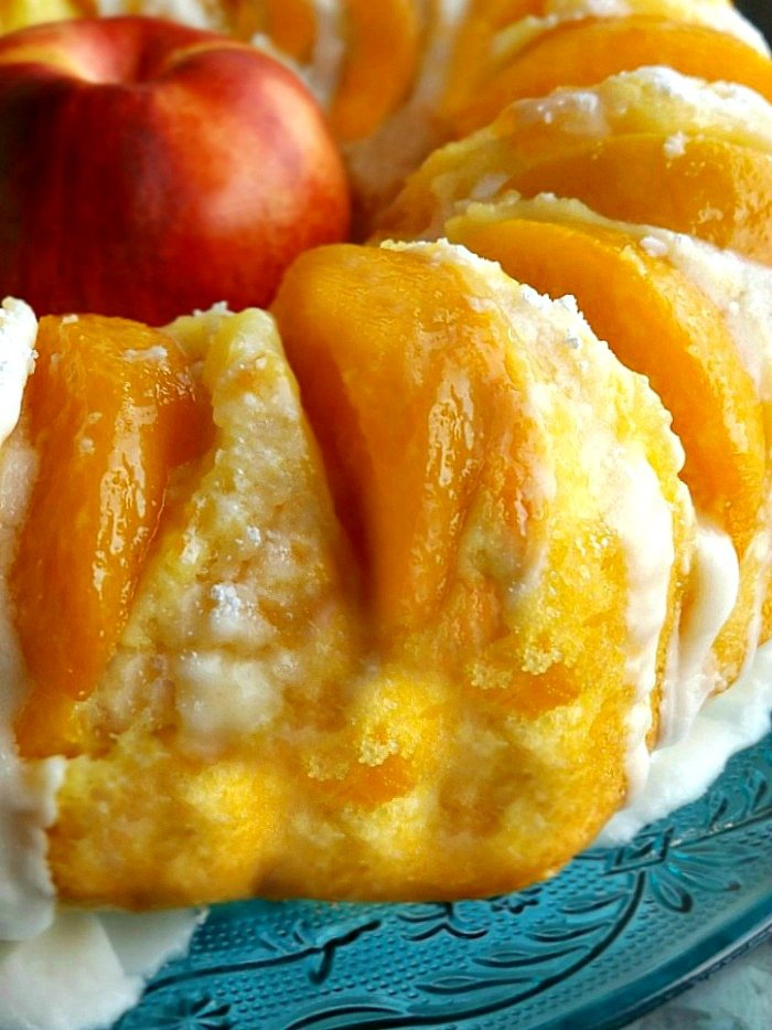 Fresh Homemade Summer Peach Pound Cake Dessert