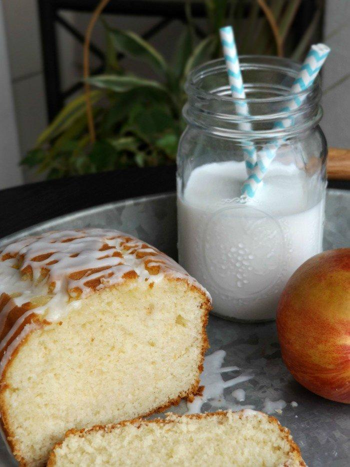 Peach Pound Cake with Greek Yogurt sewlicioushomedecor.com