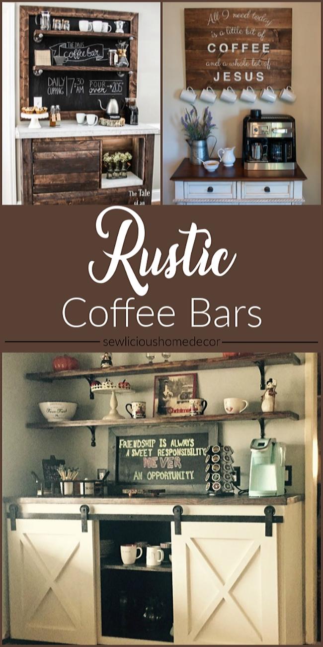 DIY Upcycled Rustic Coffee Bars