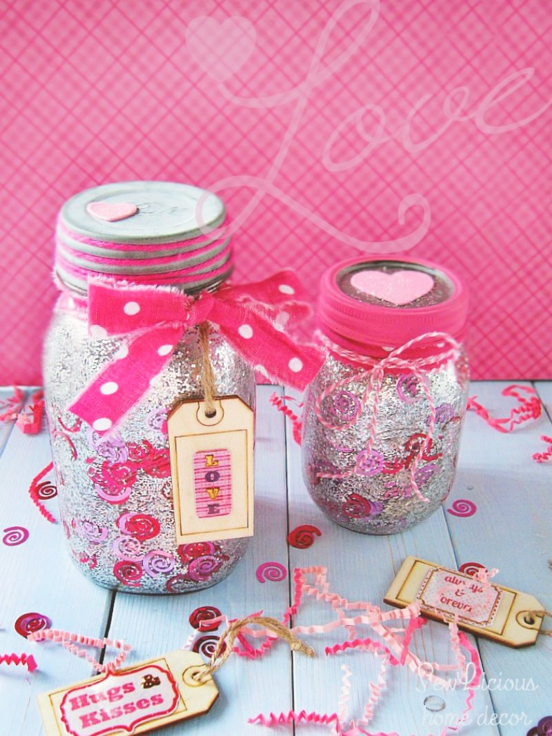 How To Make A Confetti Valentine Mason Jar