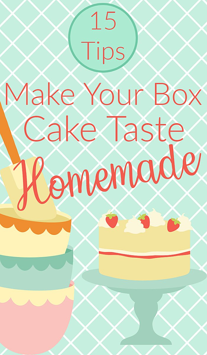 How to make a boxed cake mix taste homemade.