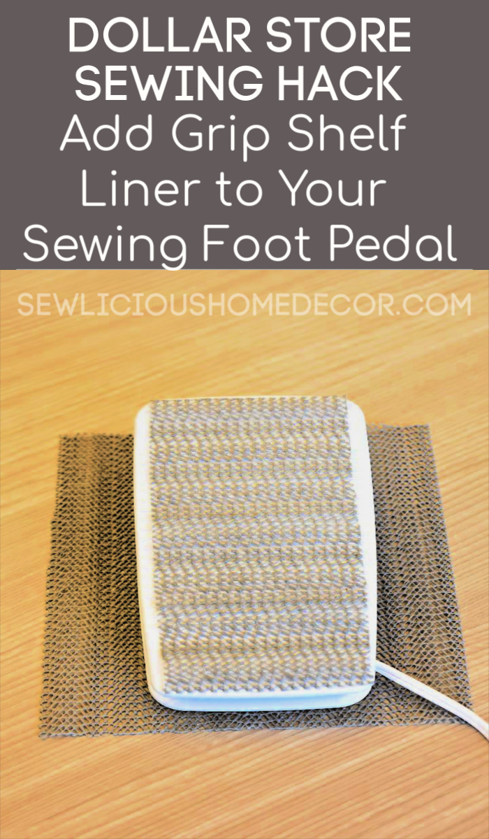 Sewing Machine Foot Pedal Grip Shelf Liner