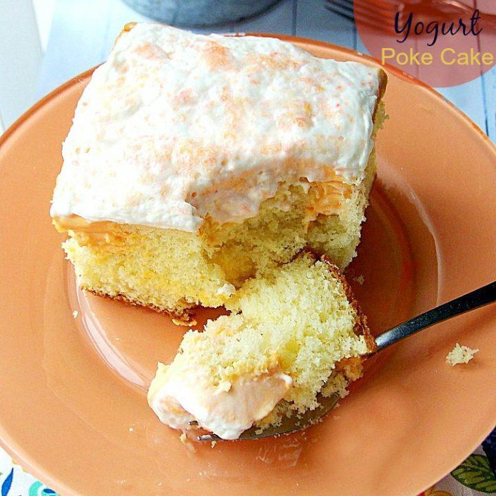 Moist Orange Cream Yogurt Poke Cake