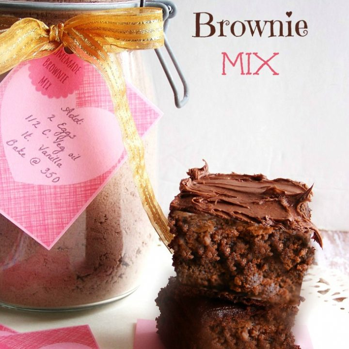 Homemade Butter Cake From Scratch: Brownie Mix In A Jar Made From Scratch Gift Idea