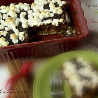 Cinnamon Roll Smores Poke Cake