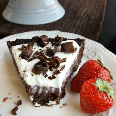 Double Chocolate Brownie Pudding Pie
