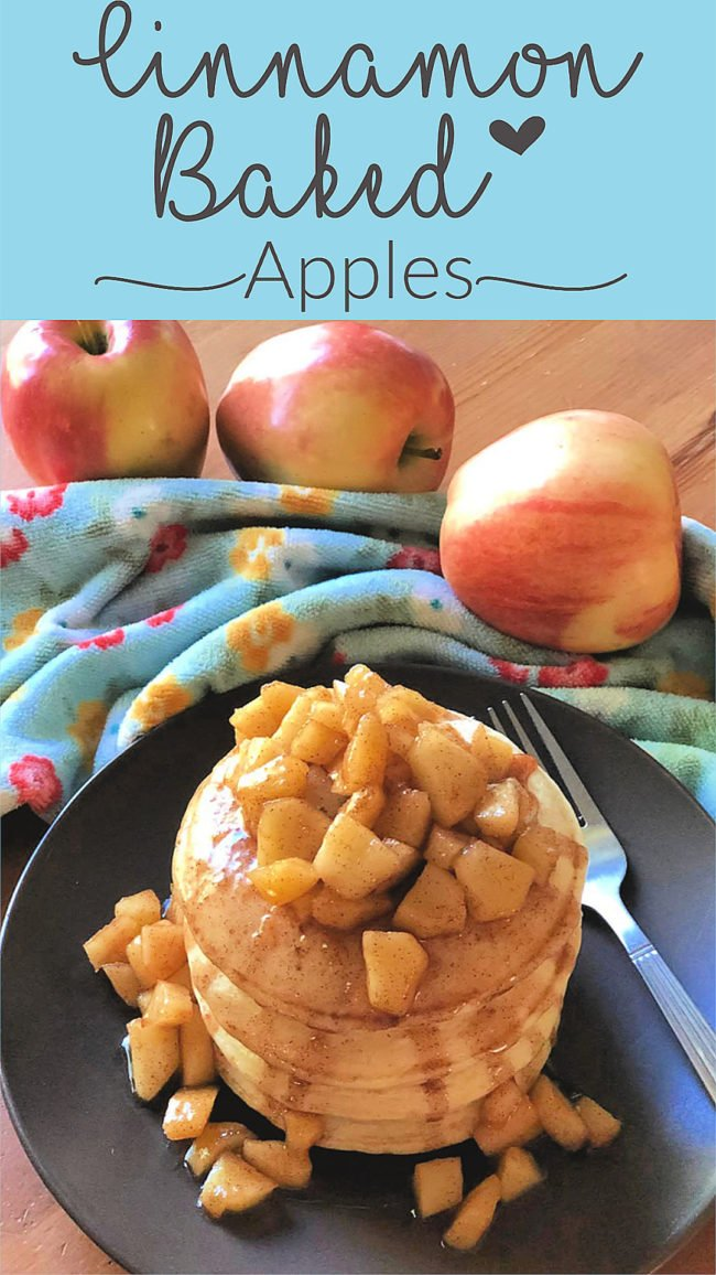 Healthy Cinnamon Baked Apples for toppings.  Breakfast, dessert, pies, ice cream.