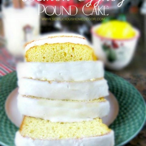 Lemon Eggnog Pound Cake
