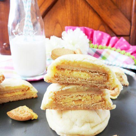 Lemon Oreo Stuffed Cookies