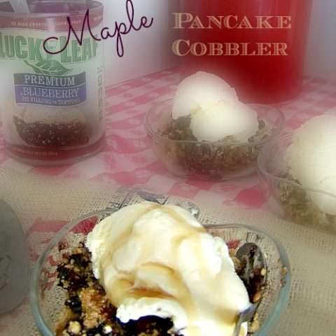 Maple Crock Pot Blueberry Pancake Cobbler