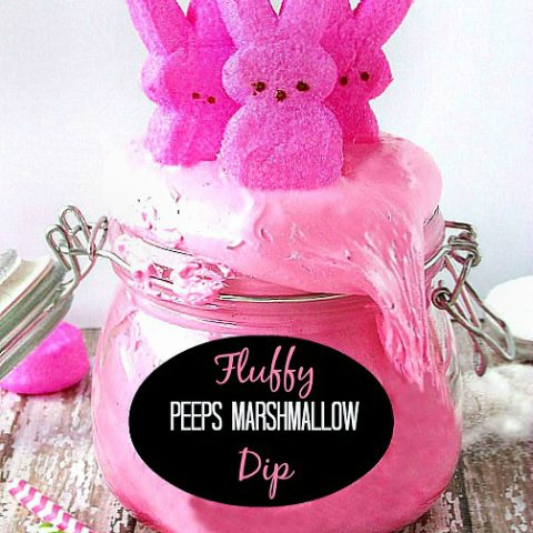 Fluffy Peeps Pink Marshmallow Dip