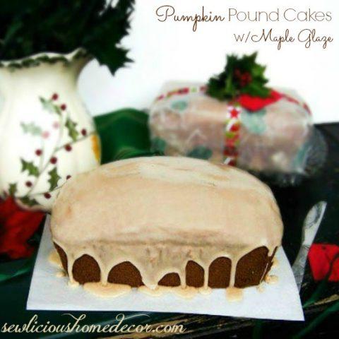 Pumpkin Pound Cakes with Maple Glaze