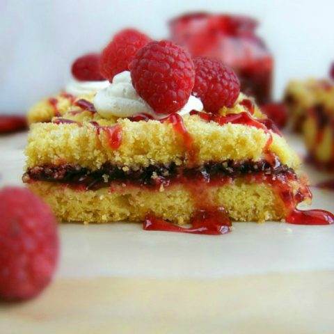 Raspberry Cobbler Dessert Bars