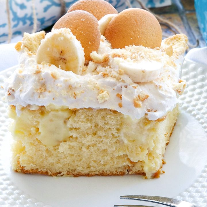 Southern Banana Pudding Poke Cake