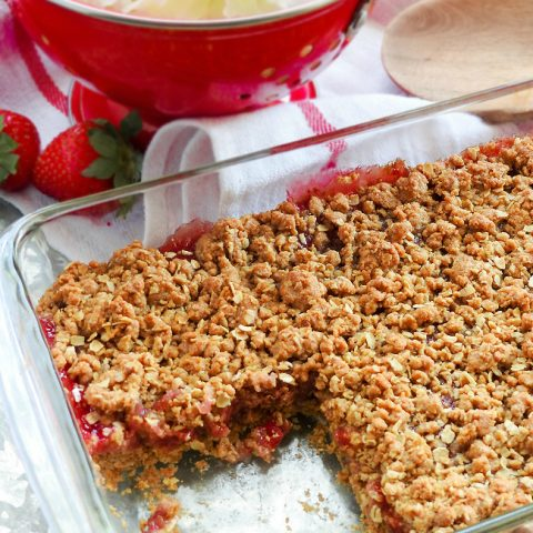 Strawberry Crisp Made With Oats