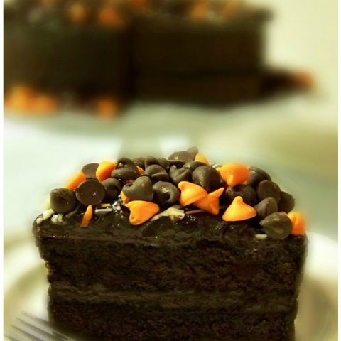 Halloween Chocolate Fudge Pudding Cake