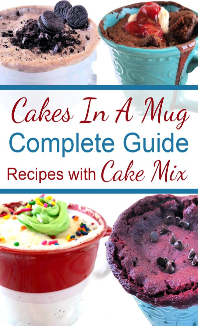 Mug Cake Recipes Cakes In A Mug Made With Cake Mix A Complete Guide