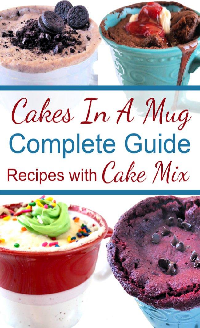 Mug Cake Recipes with Cake Mix | Free Complete Guide ...