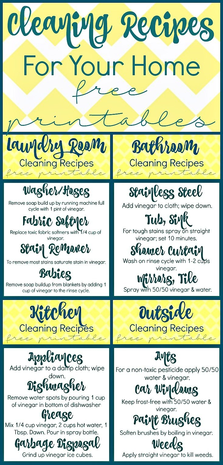 Cleaning Recipes with White Vinegar