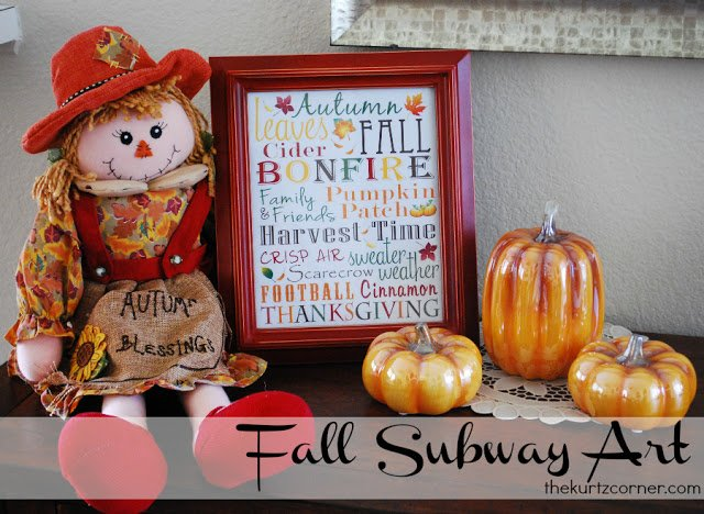 fall subway art